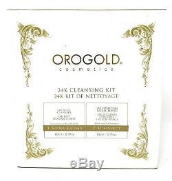 New Kit De Nettoyage Orogold 24k Système De Nettoyage En 2 Étapes 2,7 Fl Oz Dans Chaque Flacon