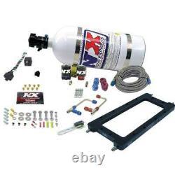 Nitrous Express Efi Hi-ram Plate System With10lb Bottle P/n 20940-10