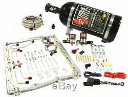 Nitrous Outlet Magnuson Heartbeat Supercharger Spacer Plate Système (10lb Bouteille)