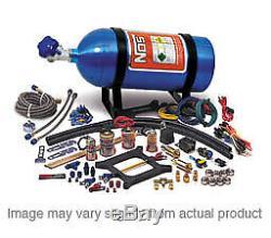 Nos Nos-02201nos Nitrous Système Cheater Double Tir 4150 100-250hp 10lb Bouteille