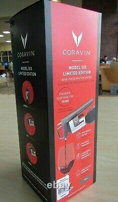 Nouveau 2021 Coravin $400 Modèle Six Limited Edition Wine Preservation System Mica