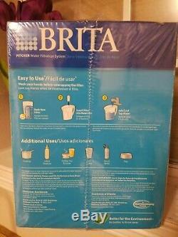 Nouveau Brita Pitcher Scellé Système De Filtration D'eau 6 Tasses Filtre Libre Bouteille Gratuit