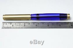 Pelikan Level L5 Gold Stylo Plume Bleu 18c Or Nib M Système De Recharge Pour Bouteille Ink