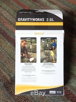 Platypus Gravityworks 2.0l Kit De Bouteille De Système De Filtre À Eau Pour La Randonnée Nouveau