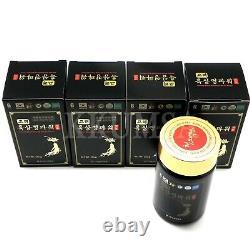 Puissance Coréenne D'extrait Noir De Ginseng 1000g (250g X 4 Bouteille) Ginsng Noir