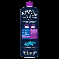 Regal Pool Care System Natural Klear Plus Supplément Cas De 12, 1 Litres Bouteilles