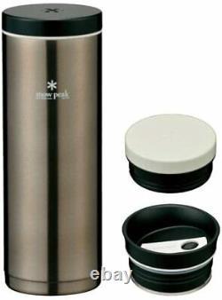 Snowpeak System Bottle 500 Dark Silver Tw-071r-ds From Japan Nouveau