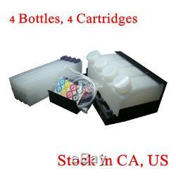 Stock USA - Système D'encre En Vrac Roland Mimaki - 4 Bouteilles, 4 Cartouches
