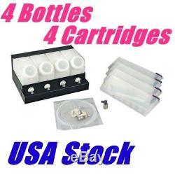 Stock Us D'encre Roland Mimaki Bulk - 4 Bouteilles, 4 Cartouches