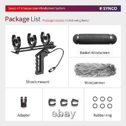 Synco Kt 8 Blimp Suspension System Shock Mont Pare-brise Avec Xlr Câble Pour Micro