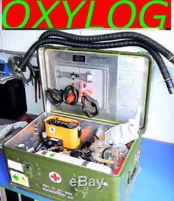 Système Complet De Régulateur De Respiration Dräger Oxylog Beatmungsgerät + Bouteille D'oxygène