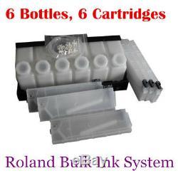 Système D'encre Continue En Vrac Roland 6 Bouteilles, 6 Cartouches / Ensemble