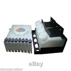 Système D'encre En Vrac Pour Imprimante Mimaki Jv33 / Jv3 / Jv5, 4 Bouteilles Et 8 Cartouches