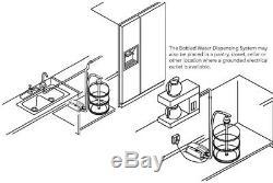 Système De Distribution D'eau Embouteillée Plus Cuisine Maison Thermoplastique Fin Simple Blanc