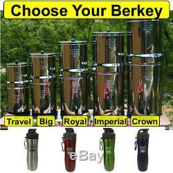 Système De Filtration D'eau Berkey Avec Bouteille D'eau Crown Imperial Royal Big Travel