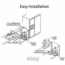 Système De Pompe De Distributeur D'eau De Bouteille Avec Tuyau À Entrée Unique De 20 Pieds Pour Réfrigérateur