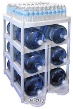 Système De Stockage De Récipients De Bouteille D'eau De 5 Gallons Titulaire D'organisateur De Support De Diviseur Nouveau