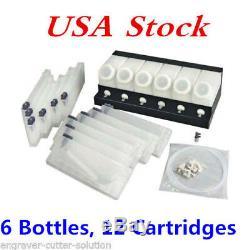 USA Roland Mimaki En Vrac Encre.système-6 Bouteilles, 12 Cartouches