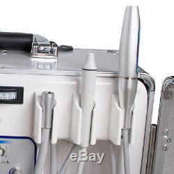 Unité De Livraison Dentaire Mobile Portative 4 Trous Eau De Bouteille De Seringue + Cadeau