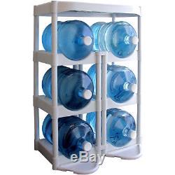 Unité De Support De Récipient De Stockage De Bouteille D'eau En Plastique Étagère De Système De Support De 5 Gallons