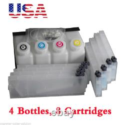 Us Stock Roland Mimaki Bulk Ink System - 4 Bouteilles, 8 Cartouches