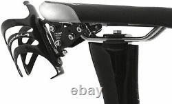 Xlab Delta 400 Black Saddle Monté Système De Bouteille Unique Avec Support Cage Et Cage